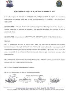 PORTARIA CRP15 - 16.01.2014