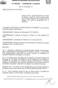 RESOLUÇÃO GESTÃO 2010-2013