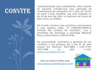 CAVIDA CONVITE