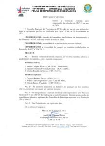 PORTARIA 003 2016 - COMISSÃO ELEITORAL