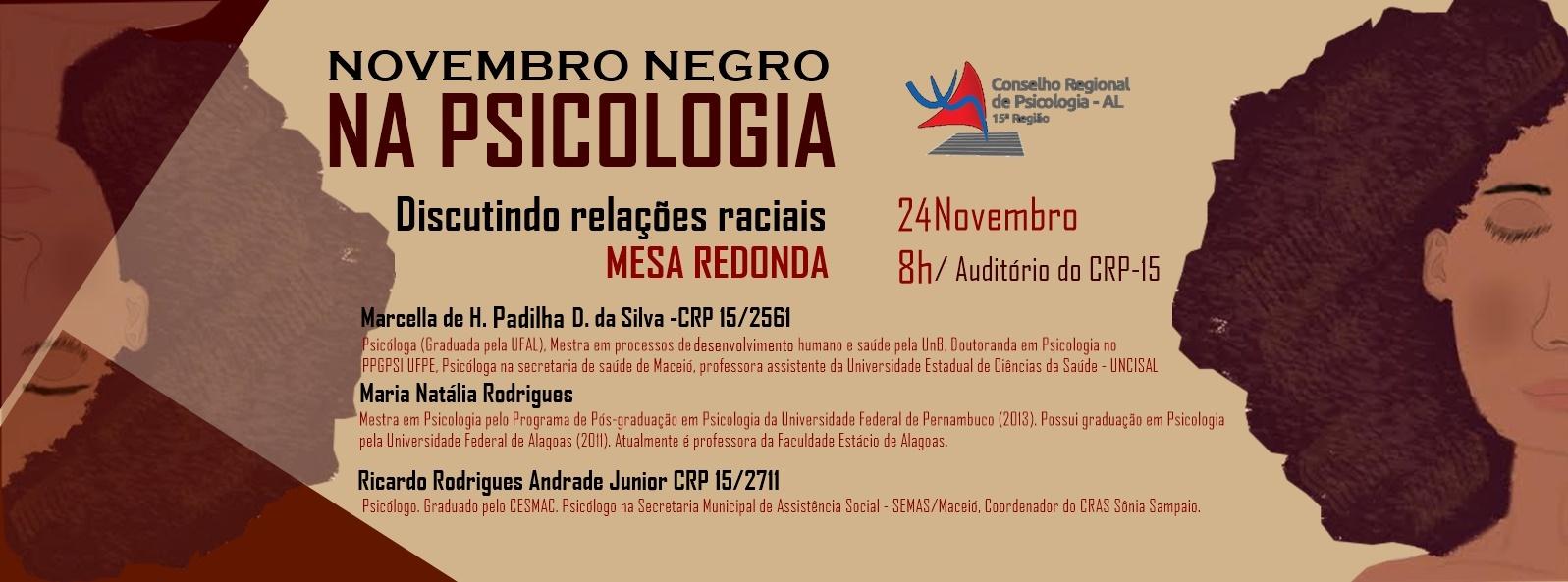 Novembro Negro na Psicologia: Discutindo as relações raciais