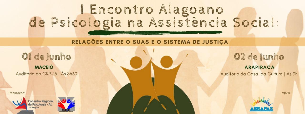 I Encontro Alagoano de Psicologia na Assistência Social