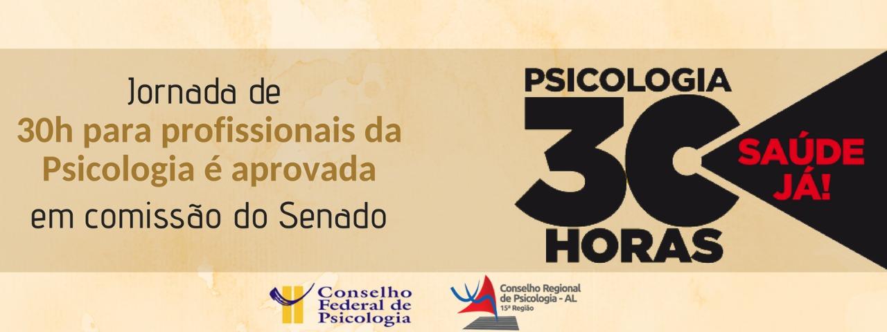 Senado aprova jornada de 30h para Psicólogos